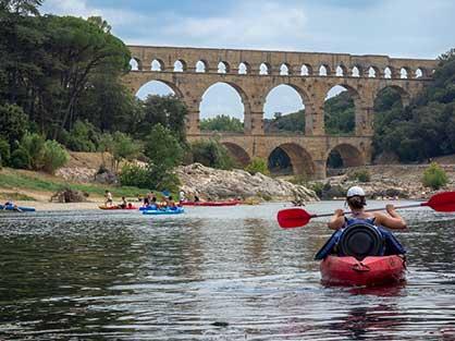 Rivières et descente en canoe kayak pour vos vacances dans le Gard
