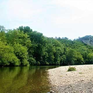 La Cèze - Rivière, affluent du Rhône